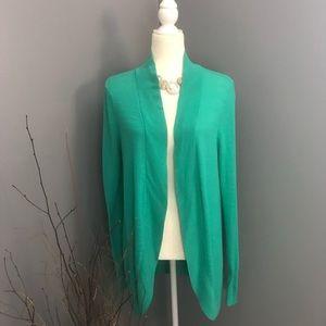Green Merona Open Cardigan Plus